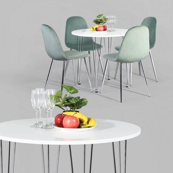 1+4 Karapiro Chrome Dining Set