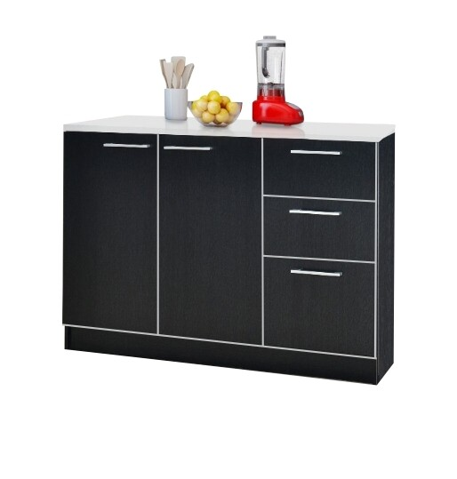 2 Doors Kitchen Cabinet with 3 Drawers
