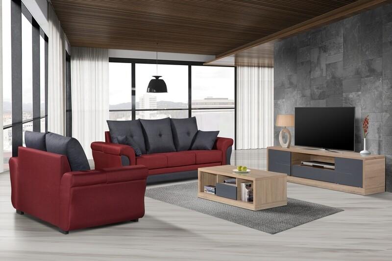 2+3 Seater Fabric Sofa Set