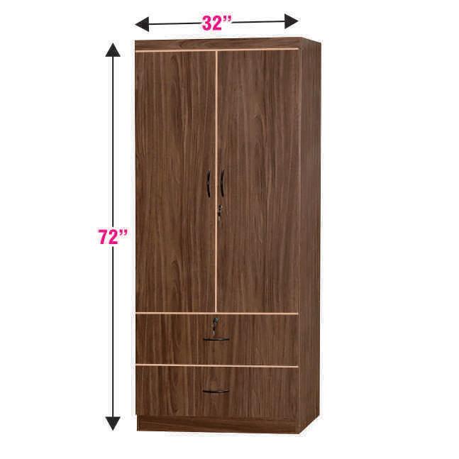 2 Doors and 2 Drawers Wardrobe