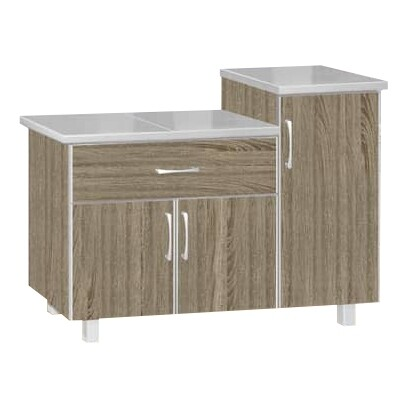 3 Doors Kitchen Cabinet with 1 Drawers