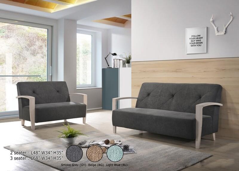 2+3 Seater Sofa Set (Grey)