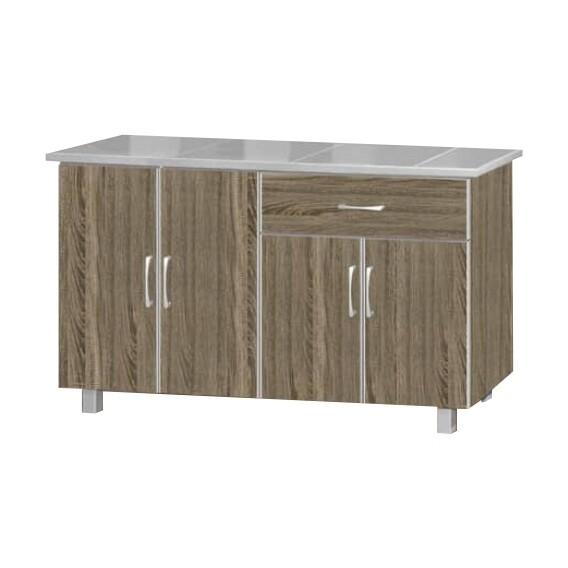 4 Door Kitchen Cabinet with 1 Drawers