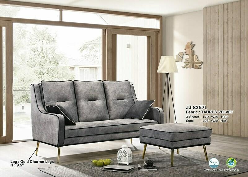3 Seater + Stool Sofa Set