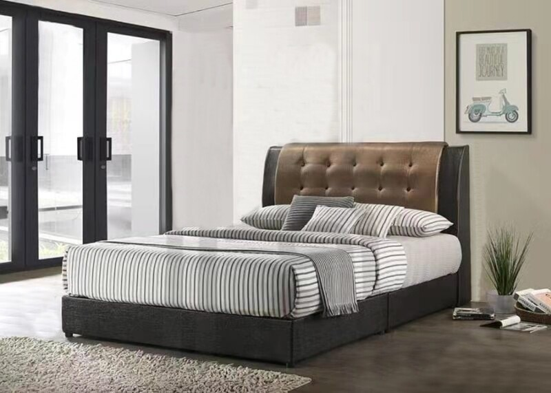 [PRE-ORDER] 5ft Queen Size Bed Frame (Brown)