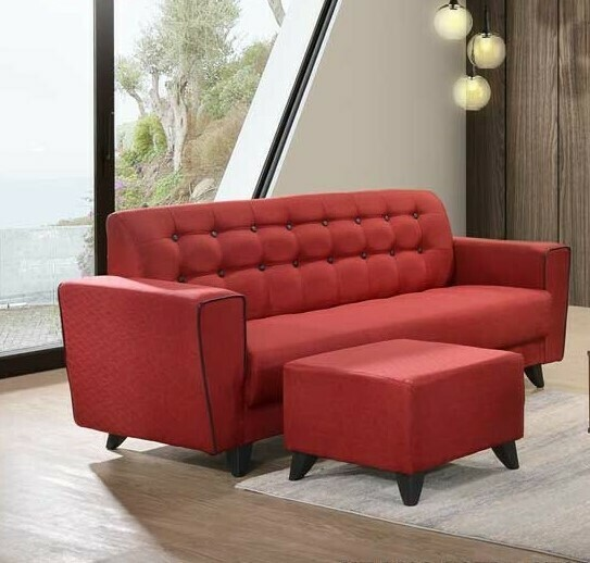 L-Shape Sofa (Red)