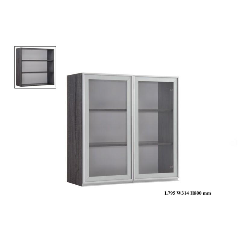 2.5 Glass Door Wall Cabinet