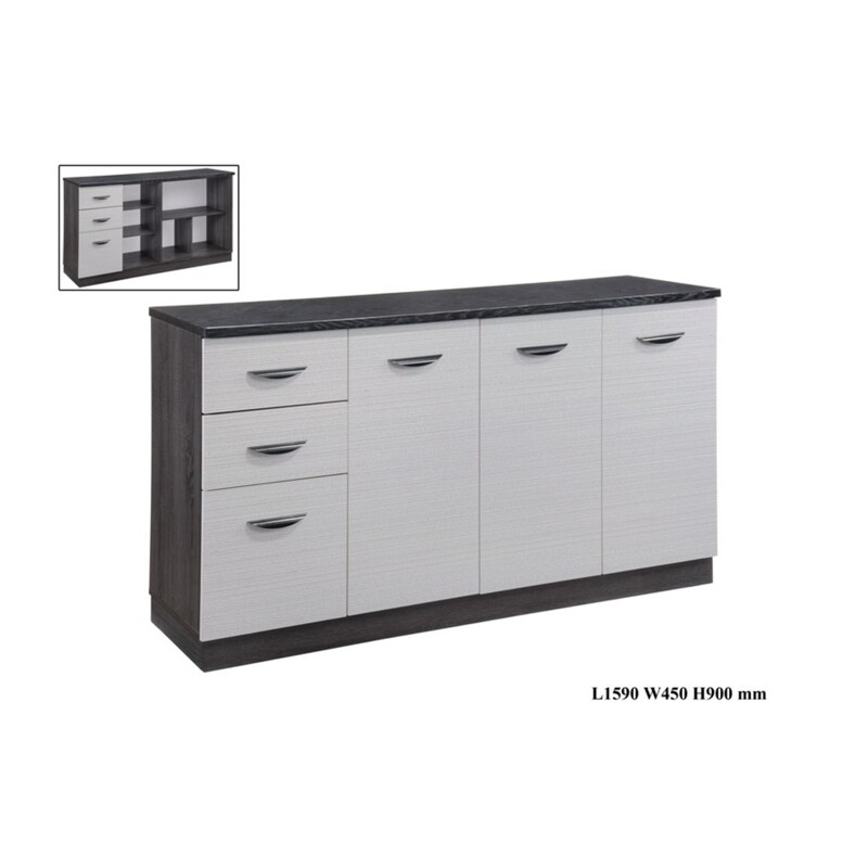5.5 Low Kitchen Wall Cabinet with Drawers