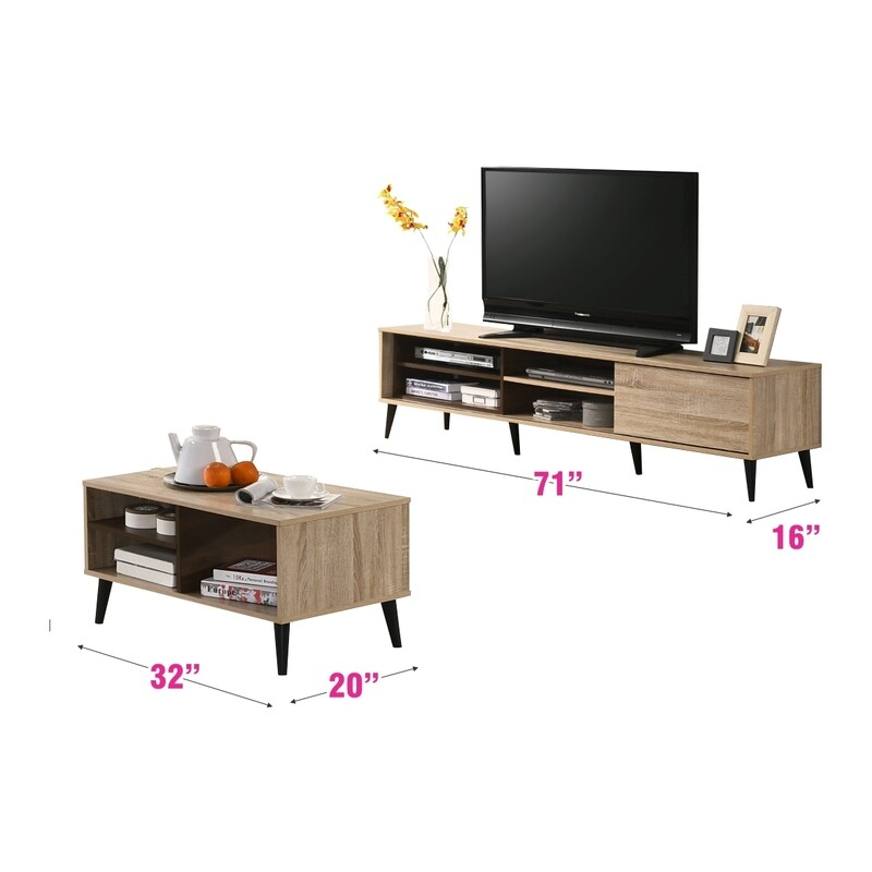 [combo] 6ft Tv Cabinet + Coffee Table