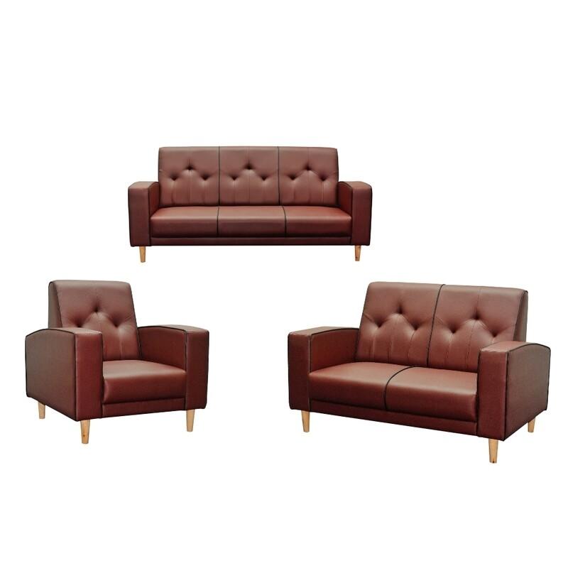 1+2+3 Seater PVC Sofa Set