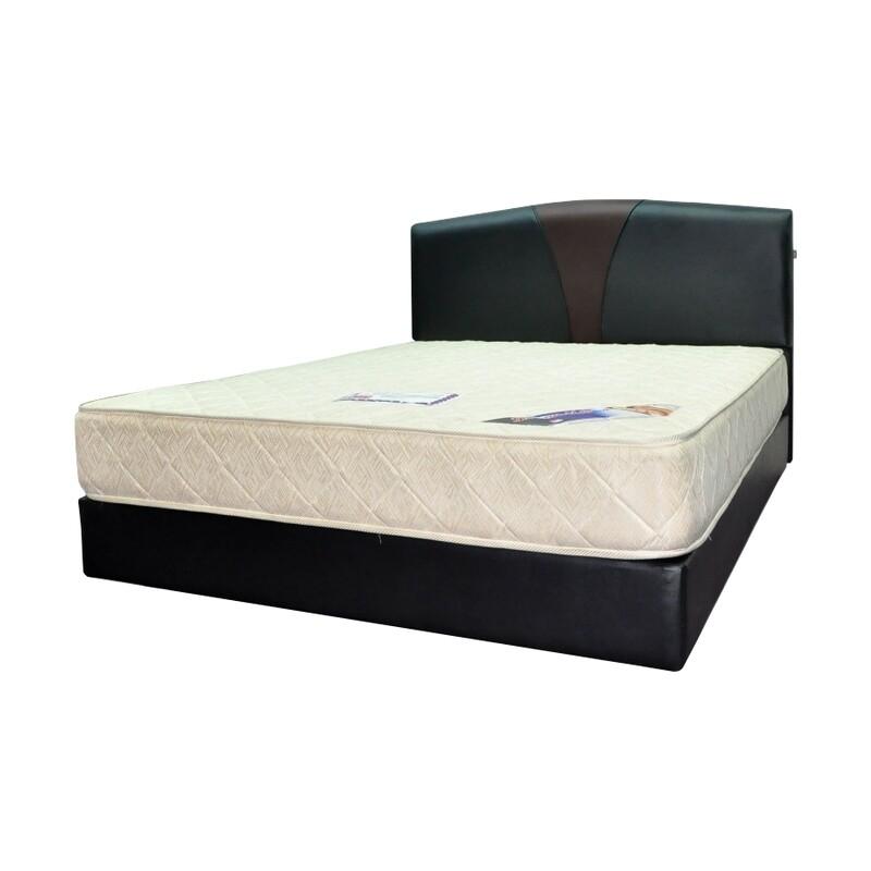 Full Bed Set (Queen Bedframe + Superior 1000 Queen Size Spring Mattress)