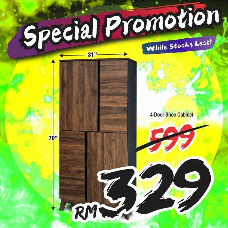 4-Doors Shoe Cabinet