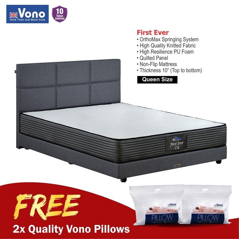 [FREE VONO 2  UNIT PILLOWS] VONO | 10 inch First Ever Mattress - Queen