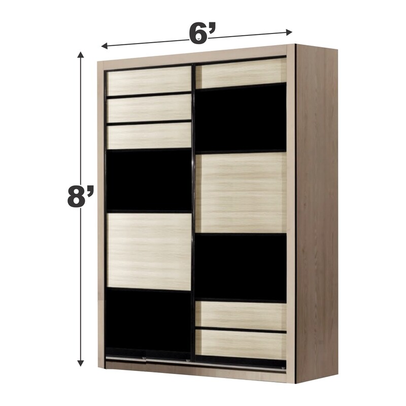 6ft x 8ft Sliding Wardrobe