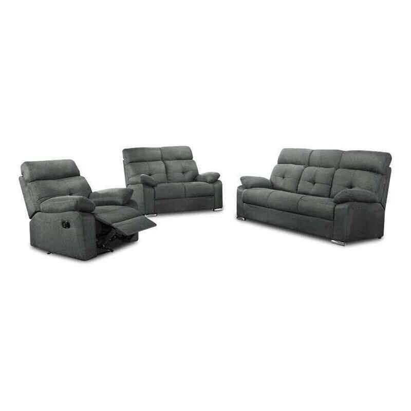 1 Recliner + 2 + 3 Seater Fabric Sofa Set