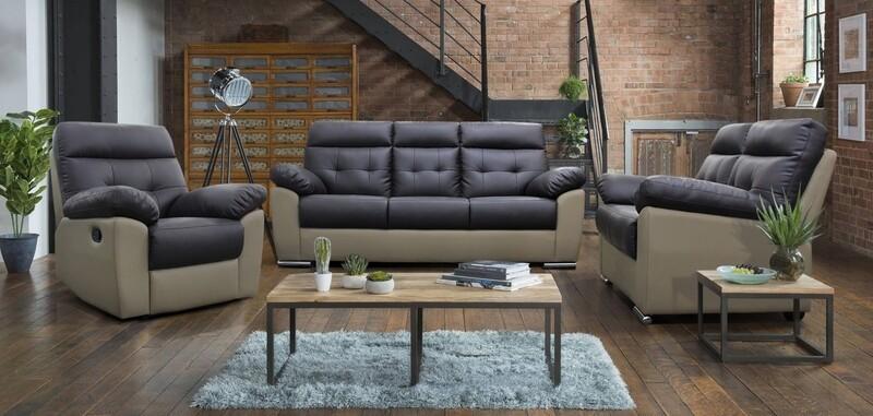 Recliner and 2+3 Seater PU Sofa Set