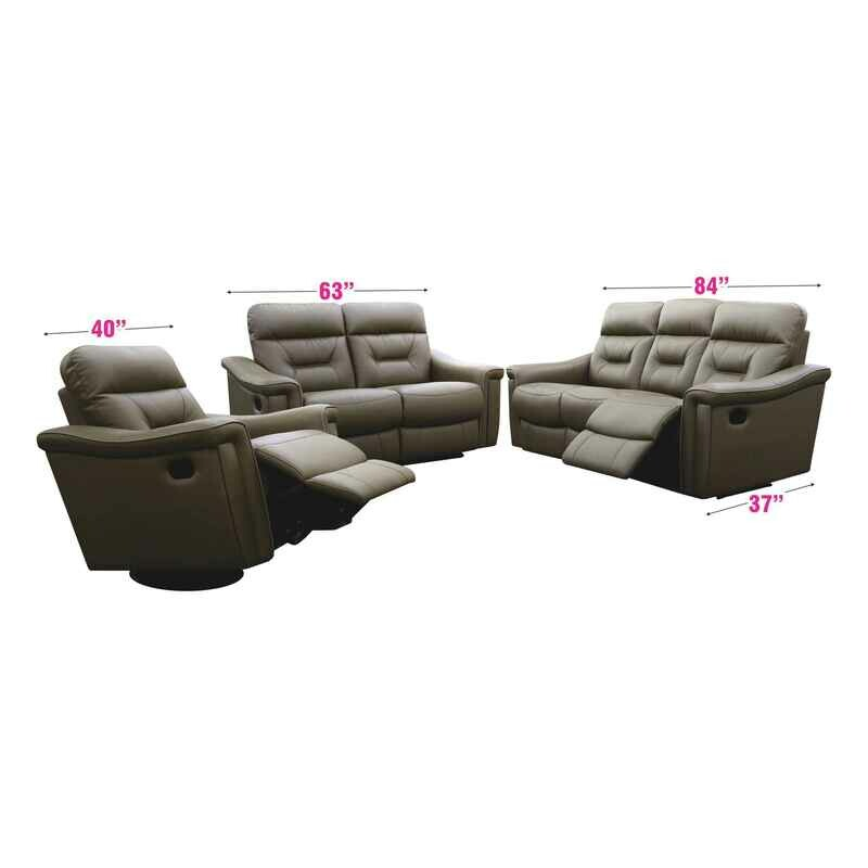 Recliner and 2+3 Seater PU Leather Sofa Set