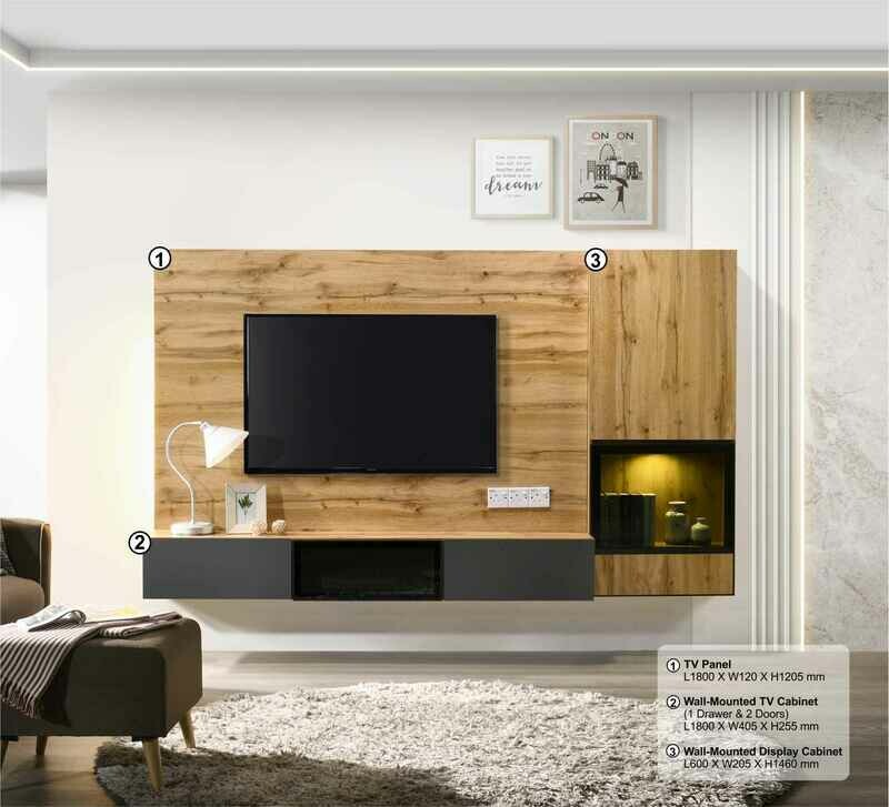 Wall- Mounted TV Cabinet