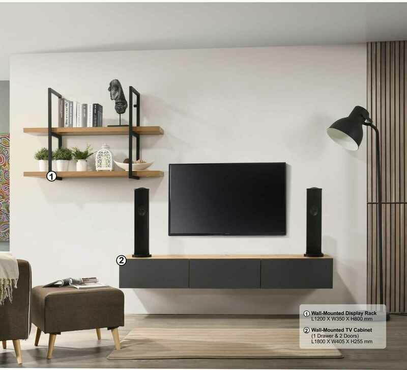6ft Wall Mounted TV Cabinet