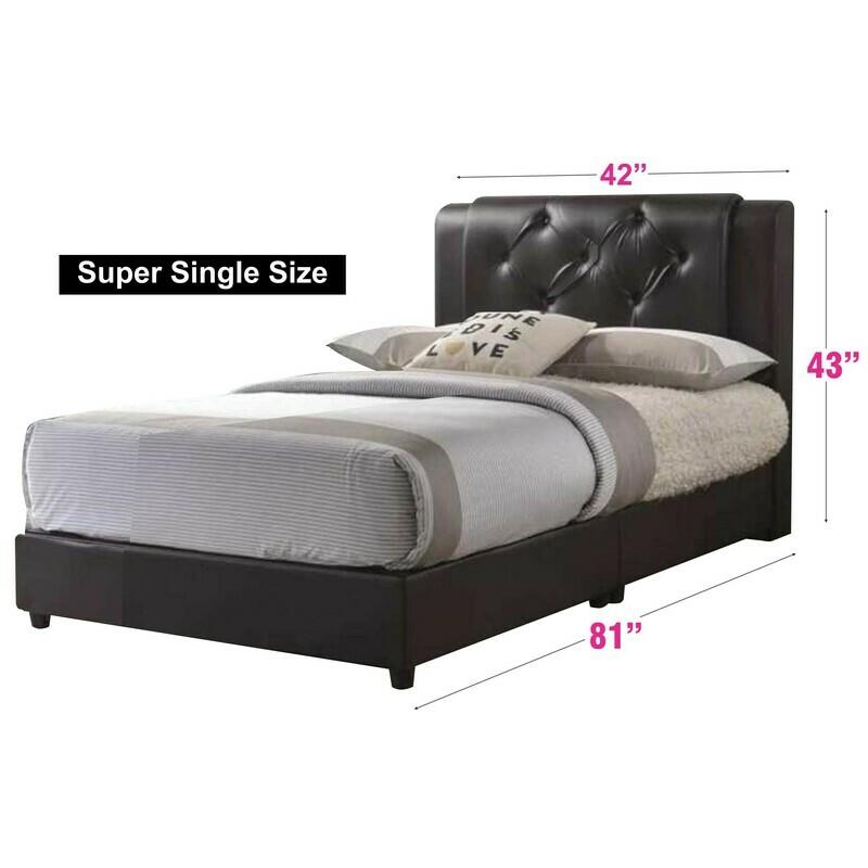 PU Bedframe (without mattress) - Super Single Size