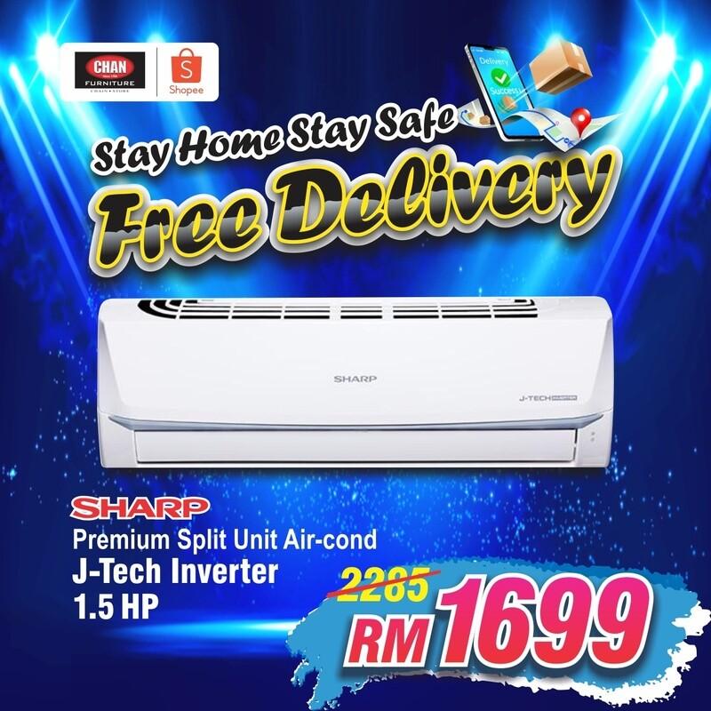 SHARP   1.5hp Premium Inverter Air Conditioner