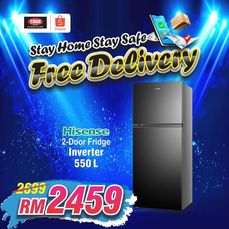 HISENSE   550L 2 Door Inverter Fridge