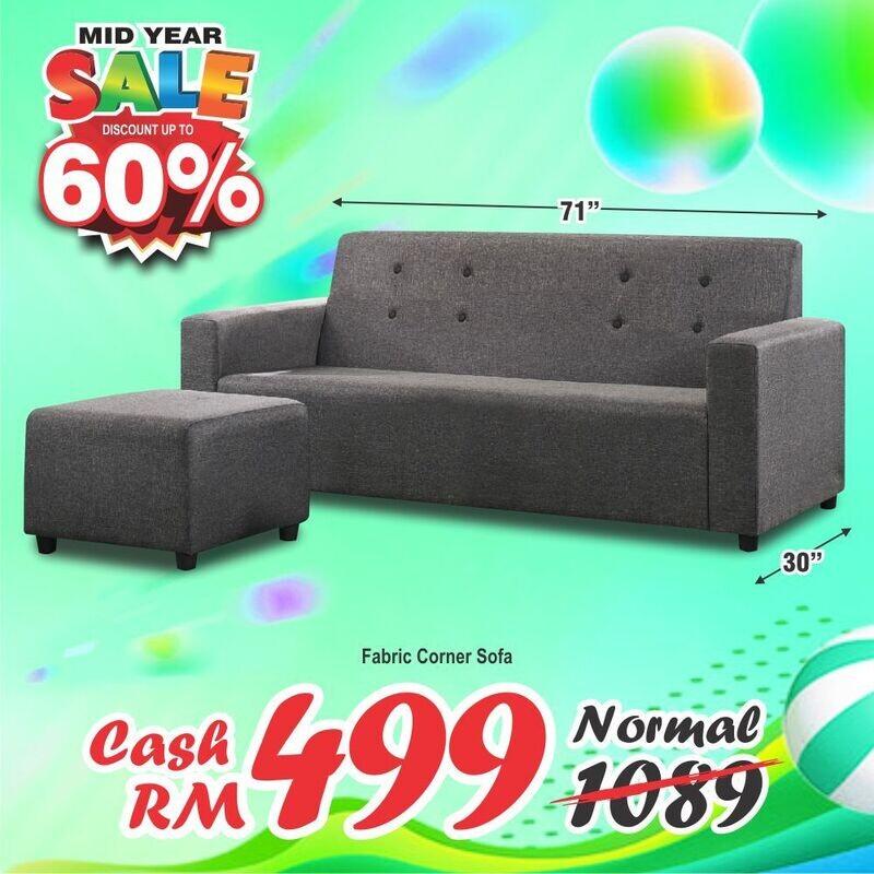 3 seater sofa + Stool