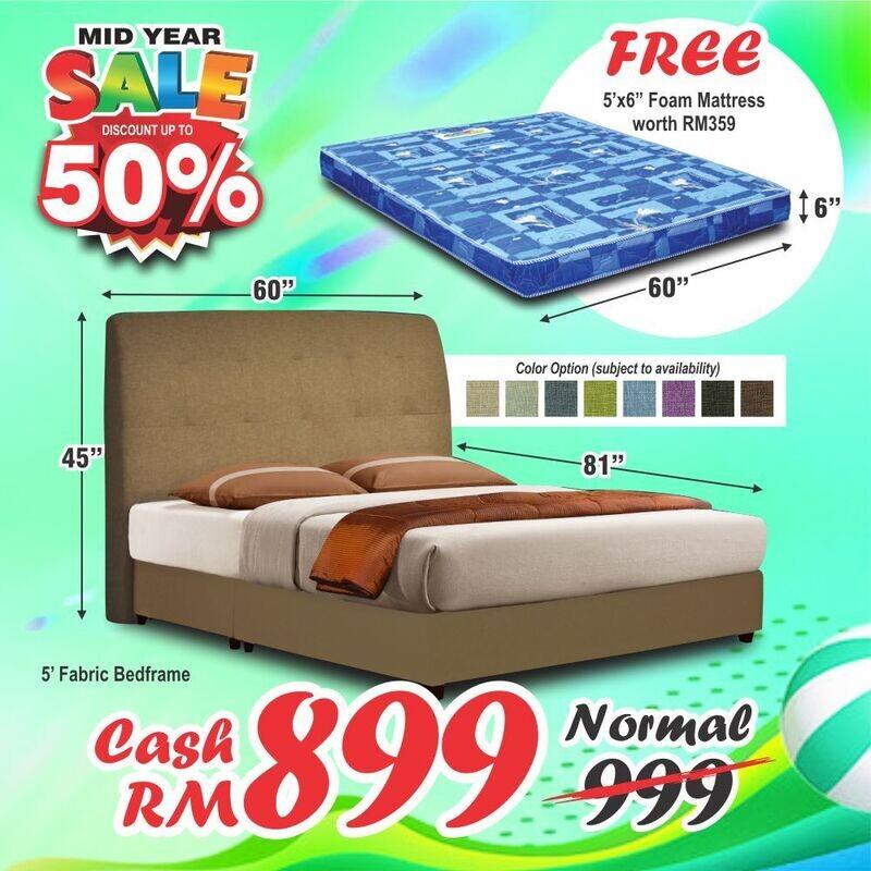 [FREE MATTRESS] Bedframe (without mattress) - Queen Size