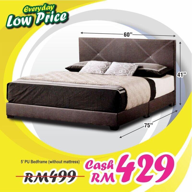 PU Divan Bed - Queen