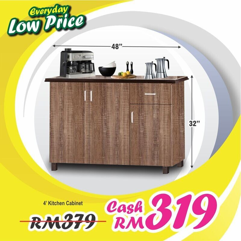 4ft Low Kitchen Cabinet