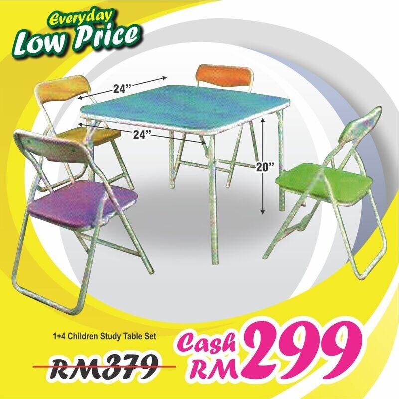1+4  Children Study Table Set