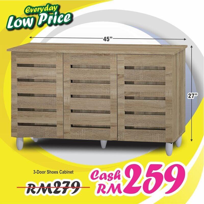 3 Doors Shoes Cabinet