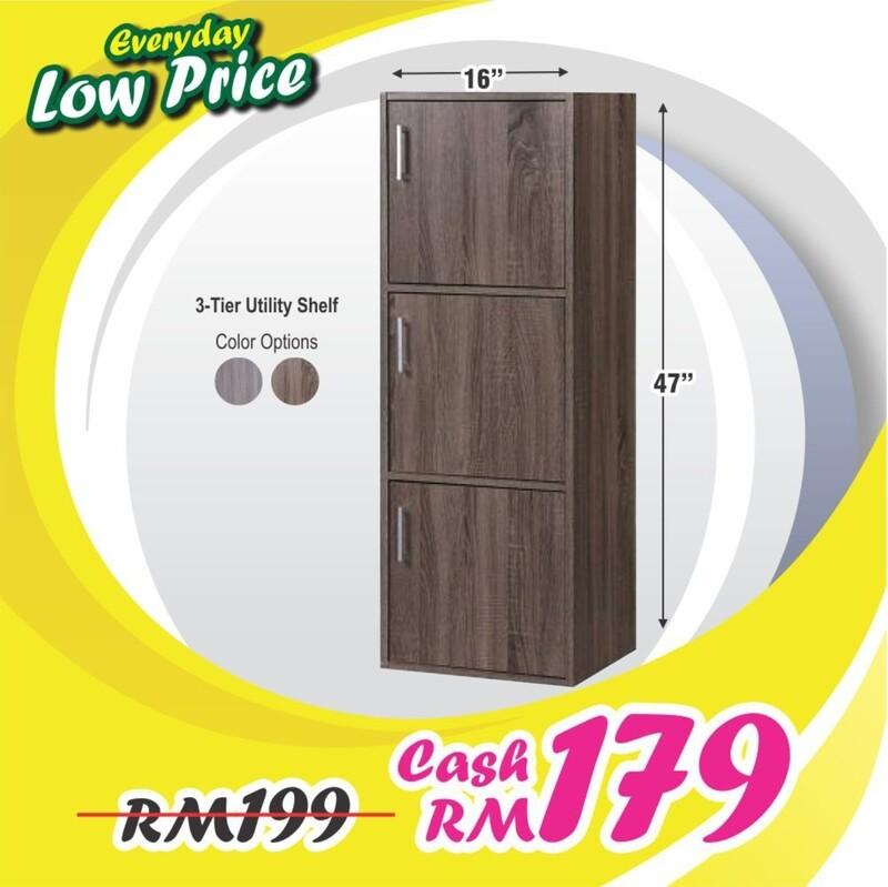 3 Doors Utility Shelf