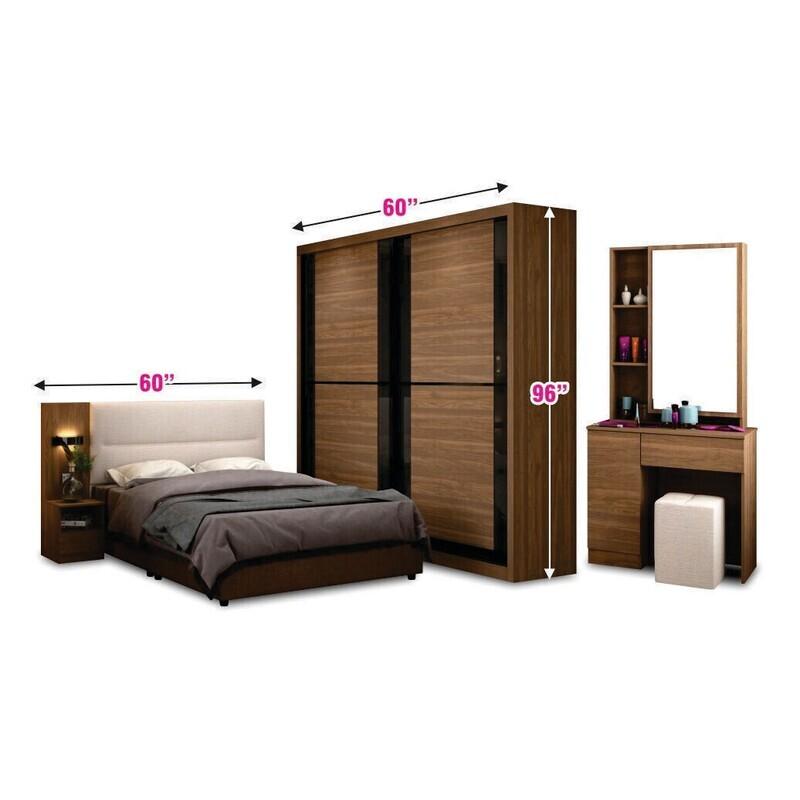 2 Doors Sliding Wardrobe ONLY (5ft x 8ft)