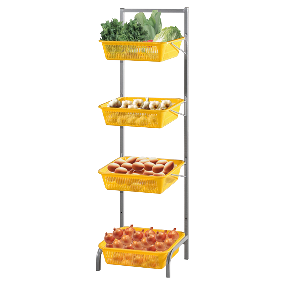 Rack with rectangle basket