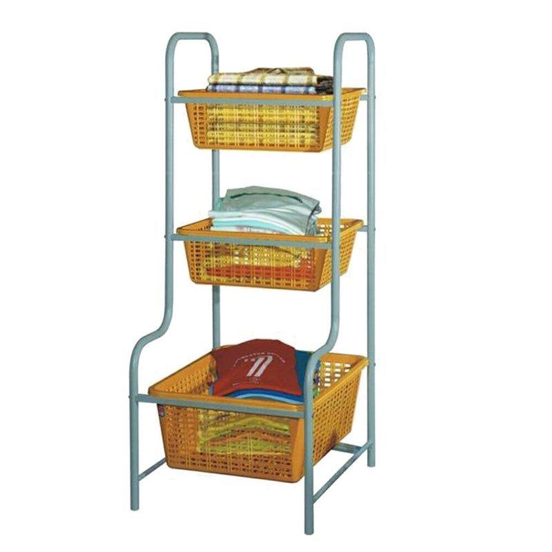 Multi purpose rack with basket