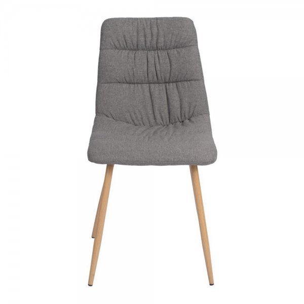 Fabric Dining Chair (Damask Grey)