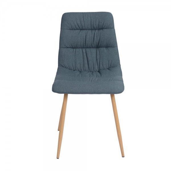 Fabric Dining Chair (Damask Blue)