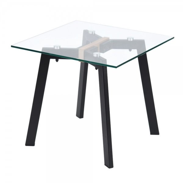 Coffee Table with Glass Top (Anonymous)