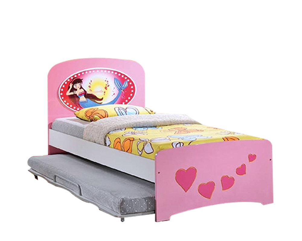 [PRE-ORDER ] Children Single Bed with pull out bed