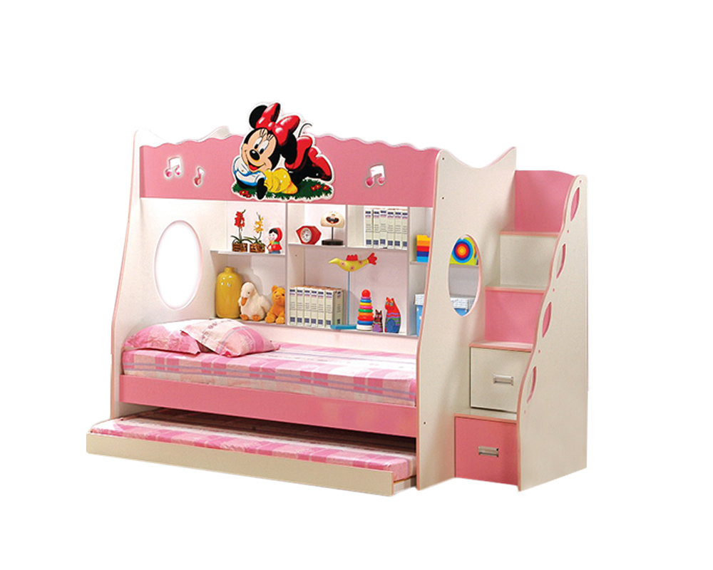 [PRE-ORDER] Triple Bunk Children Bed with Ladder