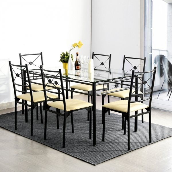 Dining Set with 6 chairs (Jes)