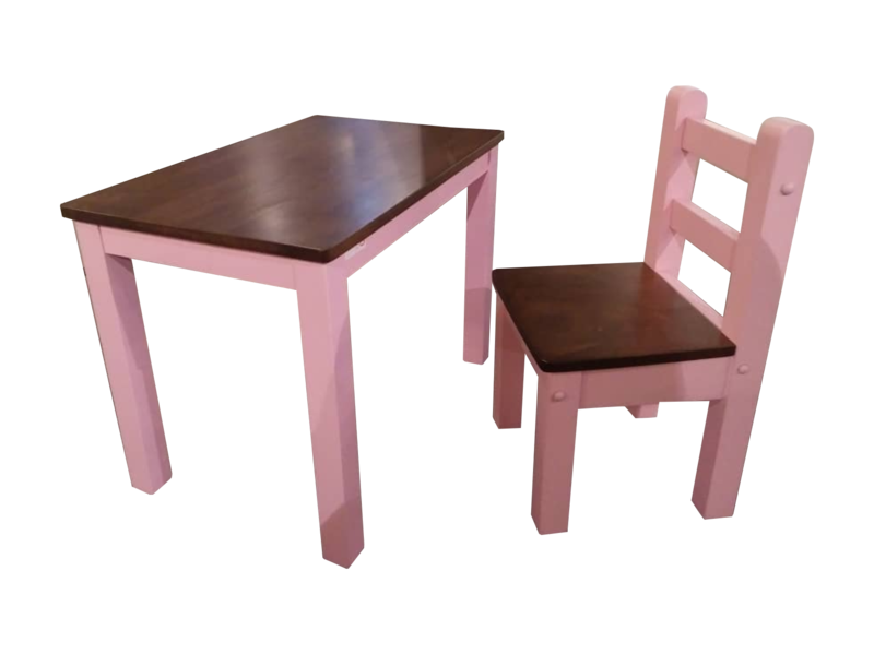 Children Study Table & Chair- Pink