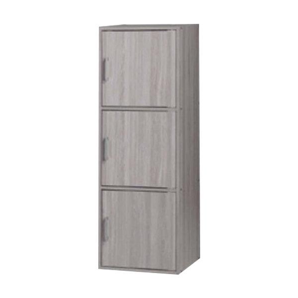 3 doors utility shelf with lock