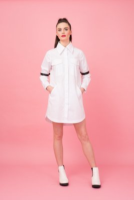 OVERSIZED SHIRTING BELT DRESS