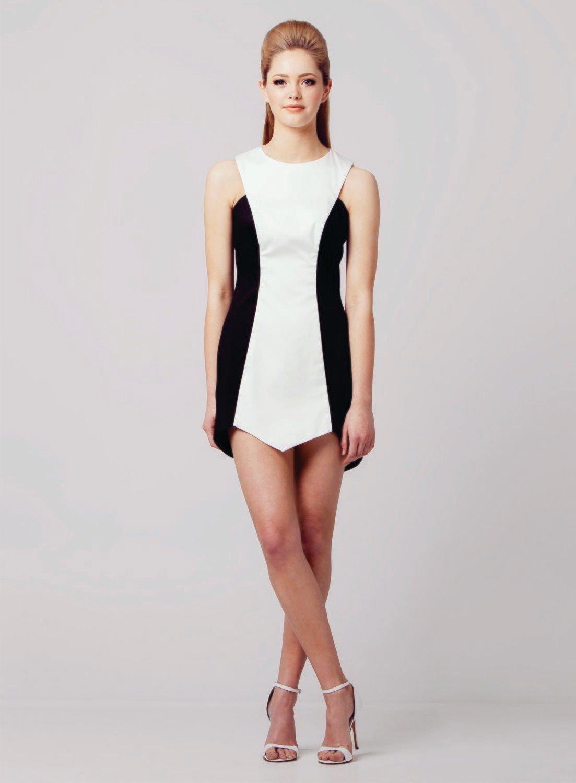ASYMMETRIC PANEL DRESS