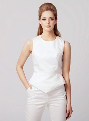 ARMOR PEPLUM TOP