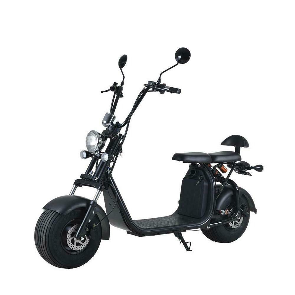 Scooter électrique City Coco Cool - Deux places - homologué route avec carte grise - Noir