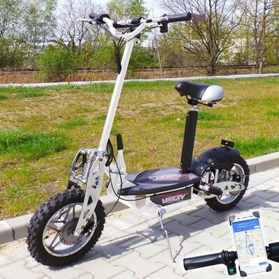 Trottinette électrique CROSS XXL Viron Motors 1000W - BLANC