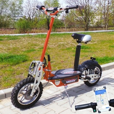Trottinette électrique CROSS XXL Viron Motors 1000W - ORANGE